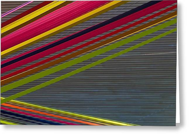 Greeting Card featuring the photograph Color Strips by Stuart Litoff