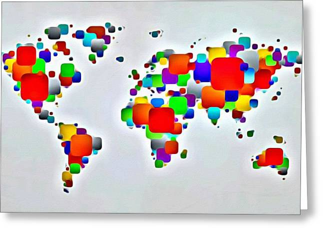 Color The World Greeting Card by Florian Rodarte