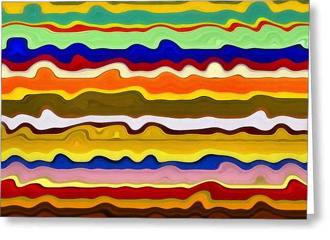 Color Waves No. 2 Greeting Card by Michelle Calkins