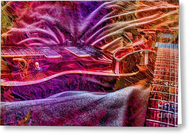 Color Wheel Digital Guitar Art By Steven Langston Greeting Card by Steven Lebron Langston