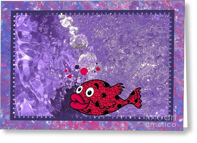 Color Your World Kids Bath Fish Greeting Card