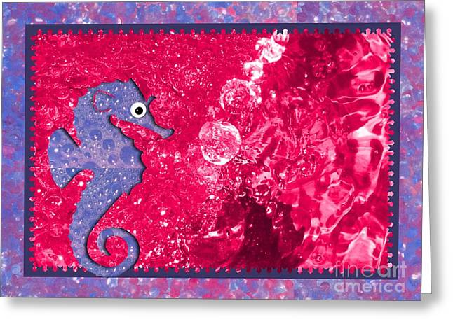 Color Your World Kids Bath Seahorse Greeting Card