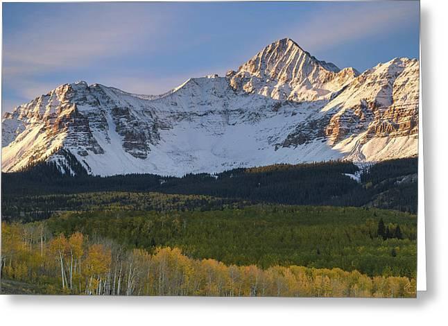 Mount Wilson Greeting Cards - Colorado 14er Wilson Peak Greeting Card by Aaron Spong