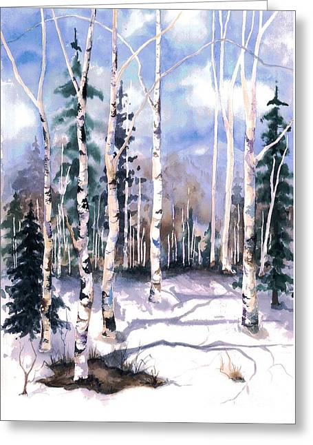 Colorado Aspens 2  Greeting Card by Barbara Jewell