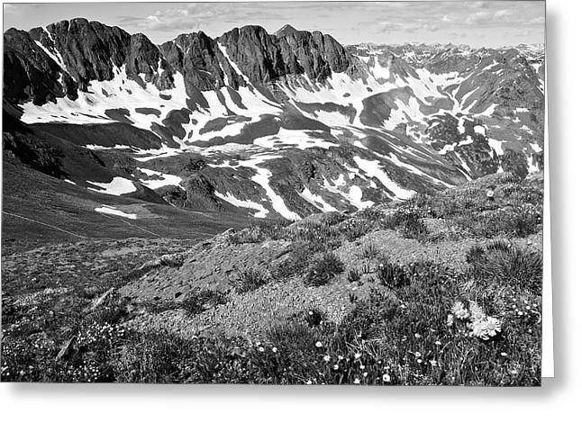 Colorado Black And White Greeting Card by Aaron Spong