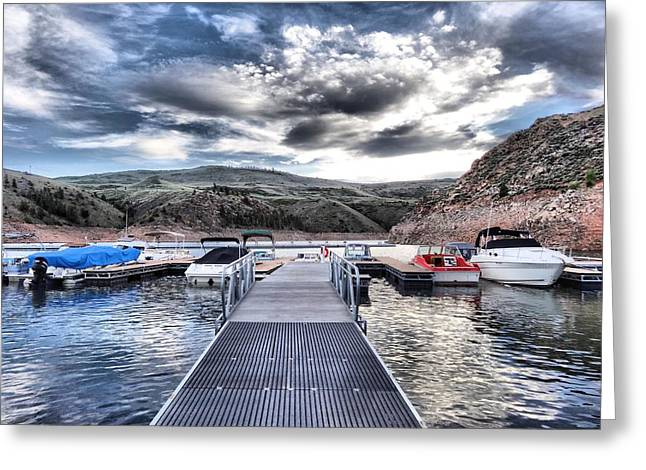 Colorado Boating Greeting Card by Dan Sproul