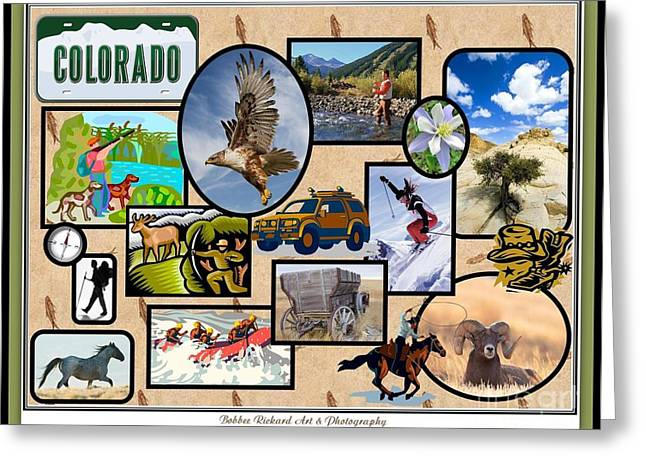 Colorado Collage Greeting Card