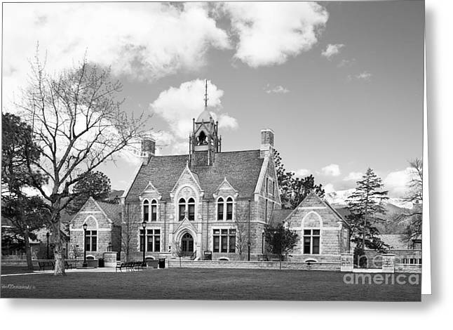 Colorado College Cutler Hall Side View Greeting Card by University Icons