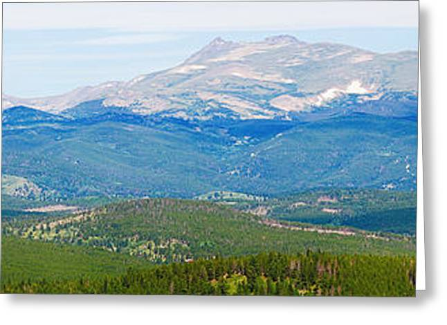 Colorado Continental Divide Panorama Hdr Crop Greeting Card by James BO  Insogna
