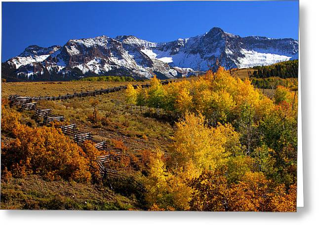 Colorado Country Greeting Card by Darren  White