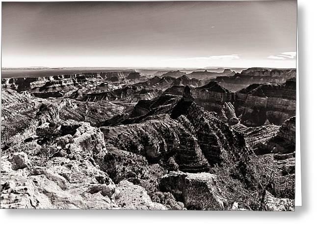 Colorado Dark Side Greeting Card by Juan Carlos Diaz Parra