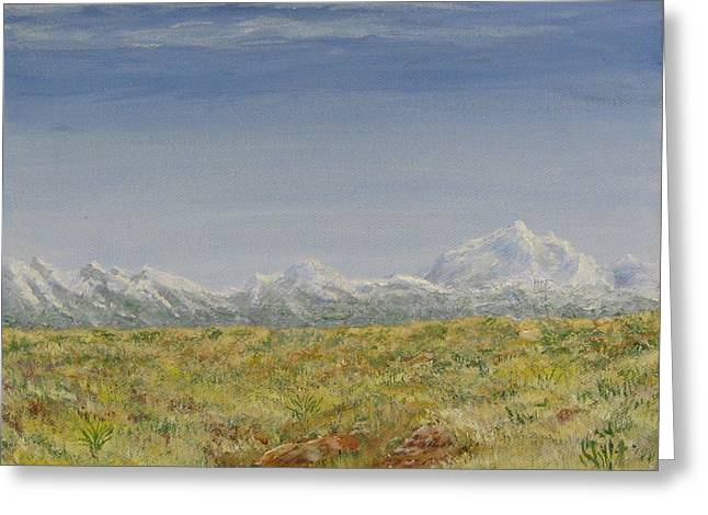 Colorado Eastern Plains Greeting Card by Dana Carroll