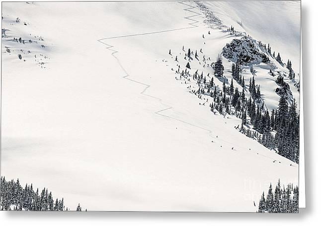 Colorado Extreme Skiing Greeting Card by Janice Rae Pariza