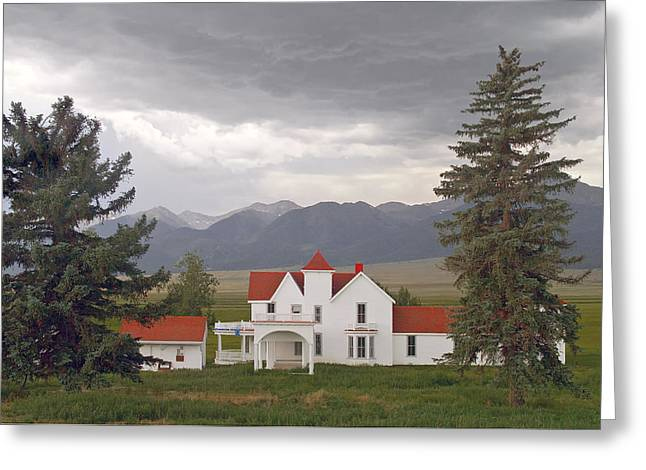 Colorado Farmhouse Photo Greeting Card by Peter J Sucy