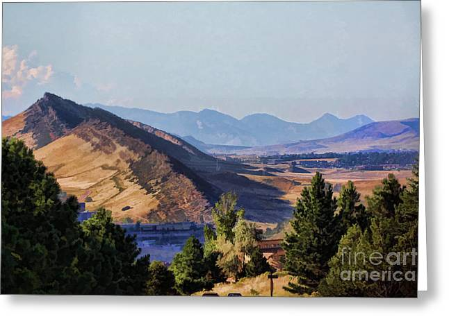 Colorado Foothills Greeting Card