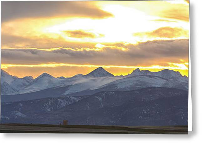 Colorado Front Range Panorama Gold Greeting Card