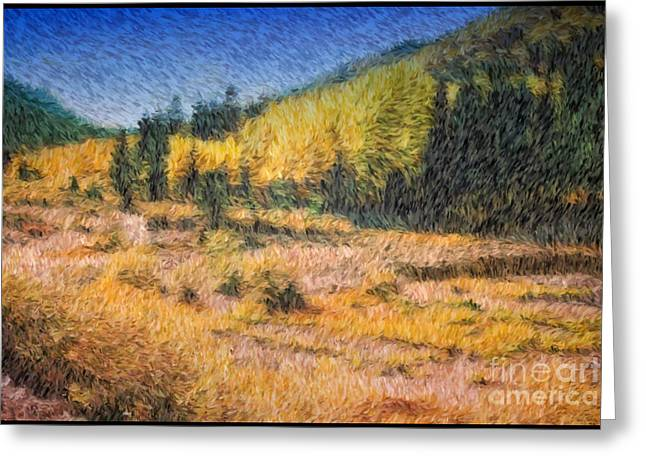 Greeting Card featuring the photograph Colorado Golden Autumn by Arthaven Studios