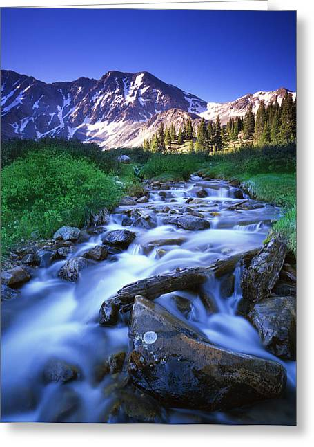 Colorado High Country Greeting Card by Ray Mathis