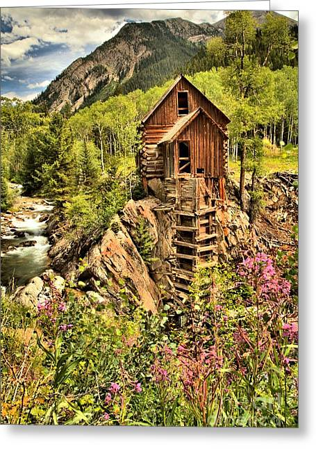 Colorado Icon Greeting Card by Adam Jewell