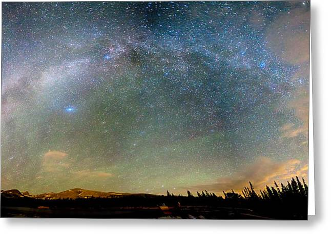 Colorado Indian Peaks Wilderness Milky Way Panorama Greeting Card by James BO  Insogna