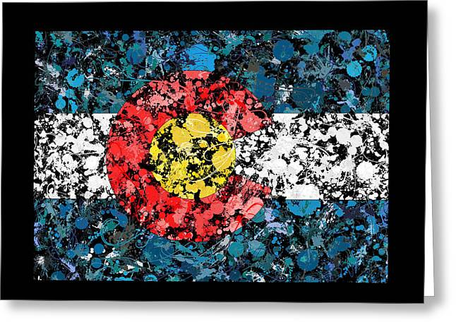 Colorado Map Flag Greeting Card