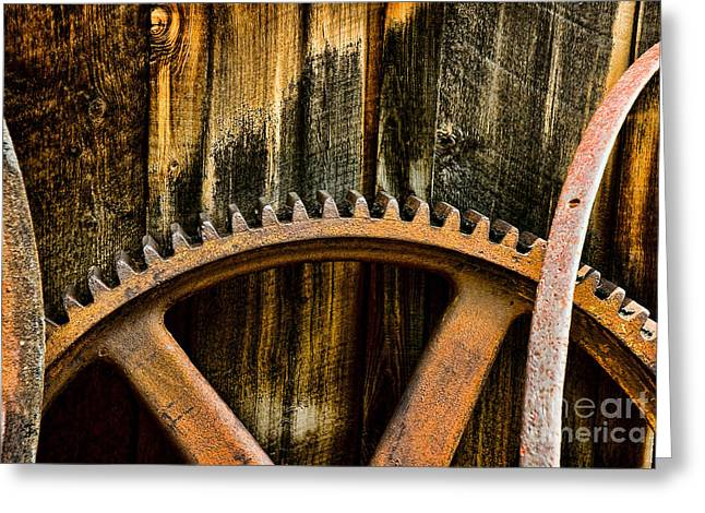 Colorado Mining Gear Greeting Card