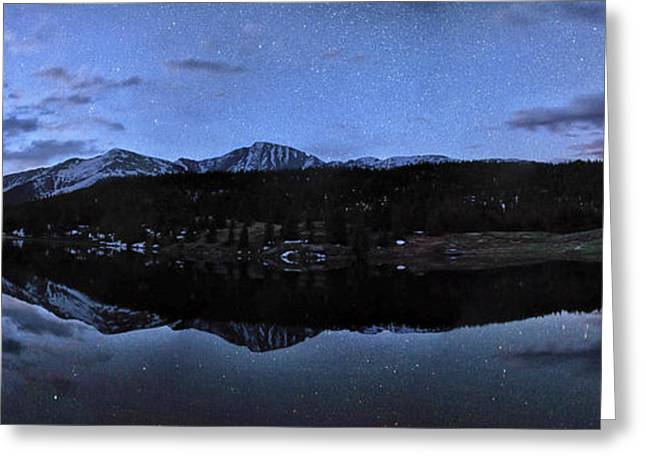 Colorado Moon To Milk Greeting Card by Mike Berenson