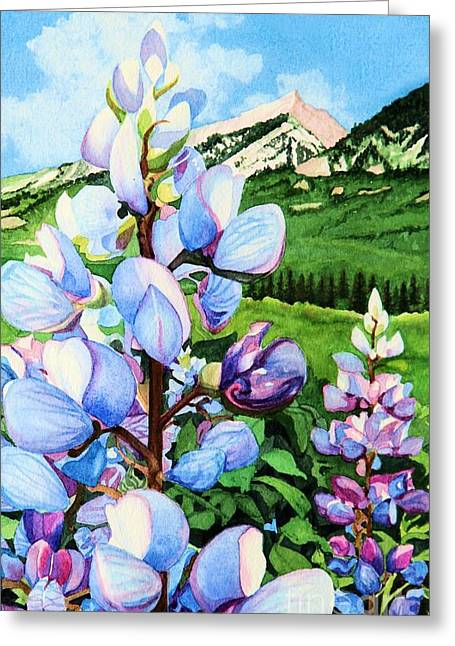 Colorado Summer Blues Close-up Greeting Card by Barbara Jewell