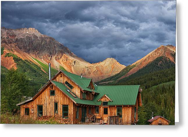 Colorado Mountain Home Greeting Card by Darren  White
