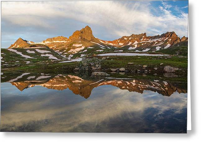 Colorado Mountain Reflection Greeting Card by Aaron Spong
