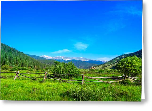 Colorado Mountains Greeting Card by Mark Andrew Thomas