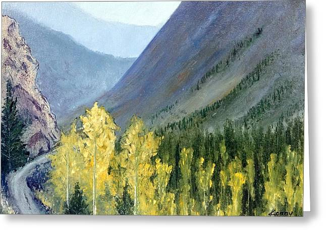 Colorado Pass Greeting Card by Kenny Henson