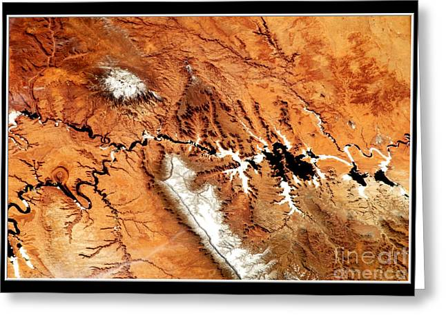 Colorado Plateau Nasa Greeting Card