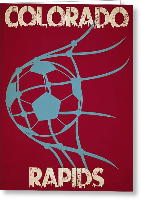 Colorado Rapids Goal Greeting Card by Joe Hamilton