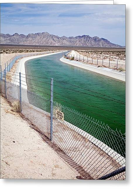 Colorado River Aqueduct Greeting Card by Jim West