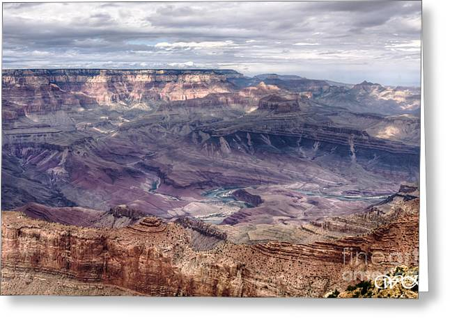 Colorado River At Grand Canyon Greeting Card by Wanda Krack