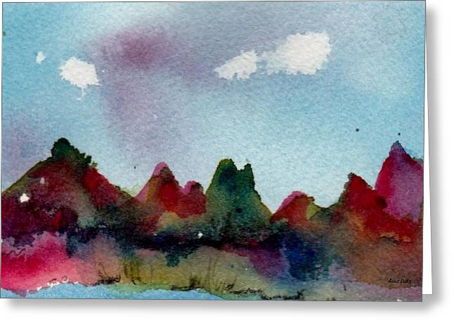 Greeting Card featuring the painting Colorado River Glow by Anne Duke