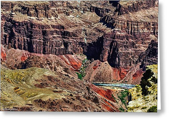 Colorado River In The Grand Canyon High Water Greeting Card by Bob and Nadine Johnston