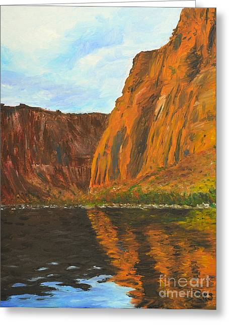Colorado River Greeting Card by Kate Sumners