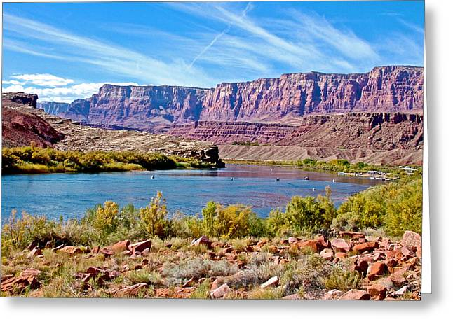 Greeting Card featuring the photograph Colorado River Upstream From Boat Ramp At Lee's Ferry In Glen Canyon National Recreation Area-az by Ruth Hager