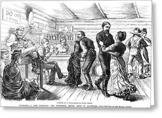 Colorado Saloon, C1880 Greeting Card by Granger