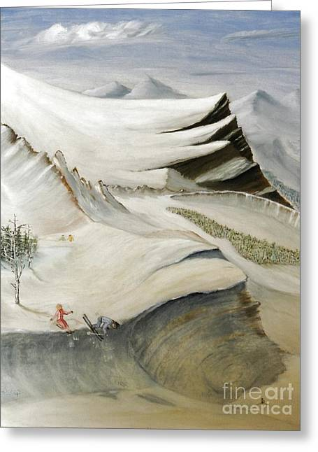 Colorado Skiing Greeting Card by Stephen Schaps