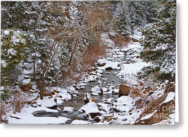 Colorado St Vrian Winter Scenic Landscape View Greeting Card by James BO  Insogna