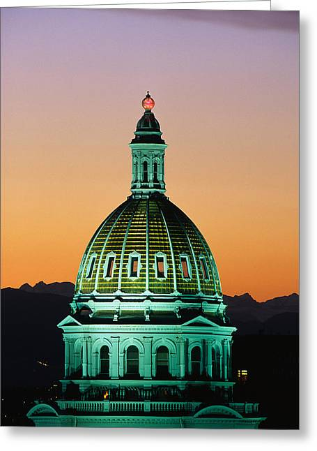 Colorado State Capitol Building Denver Greeting Card by Panoramic Images