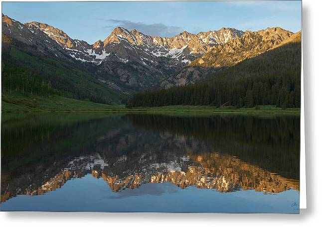 Colorado Sunset - Piney Lake Greeting Card by Aaron Spong
