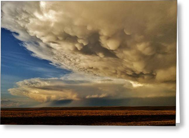 Greeting Card featuring the photograph Colorado Supercells by Ed Sweeney