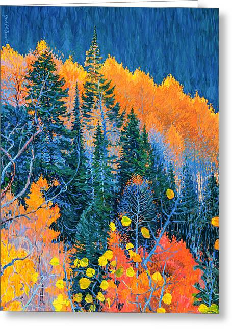 Colorado Trees At Fall Greeting Card