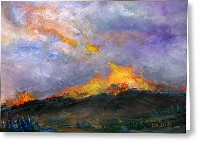 Colorado Wild Fire Greeting Card
