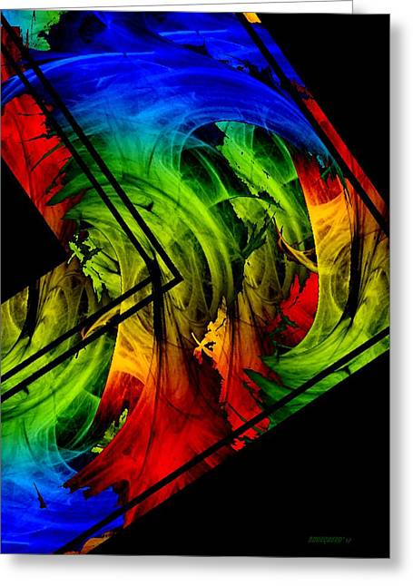 Colored Abstract Art Greeting Card by Mario Perez