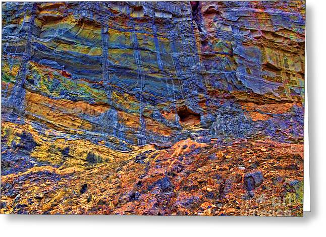 Colored Cliffs  Greeting Card